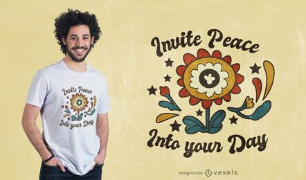 Peace day quote t-shirt design