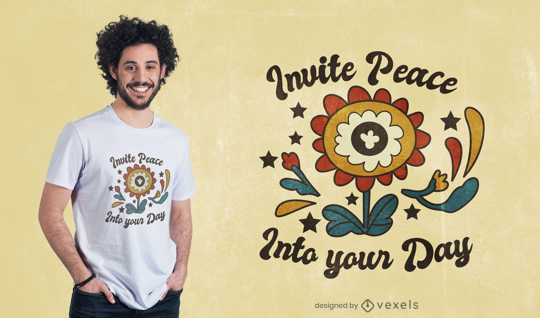 Diseño de camiseta de cita del día de la paz