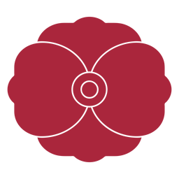 Two petals flower cut out