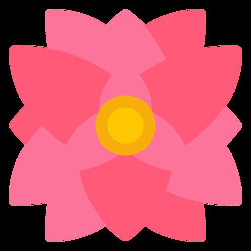 Triangular shape flower flat