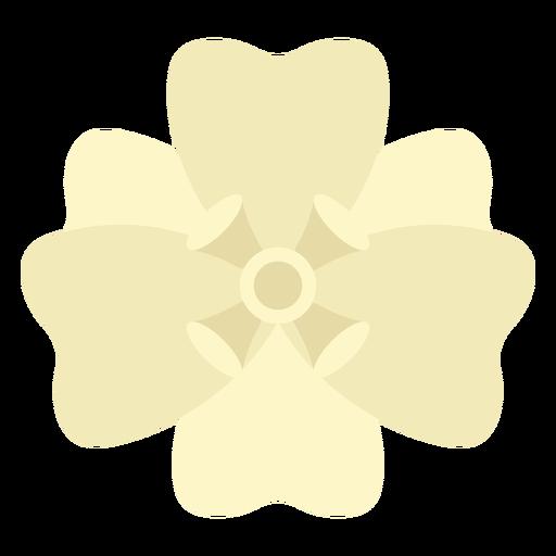 Six petals flat flower from top