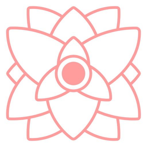 Triangular shape flower stroke from top