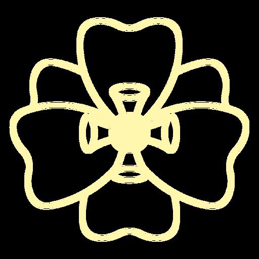 Six petals stroke flower