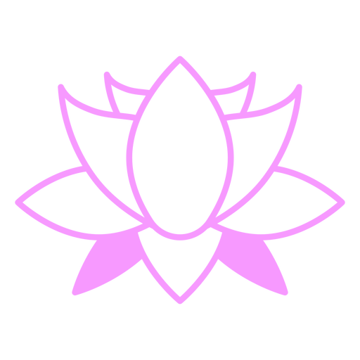 Pink lotus flower filled stroke