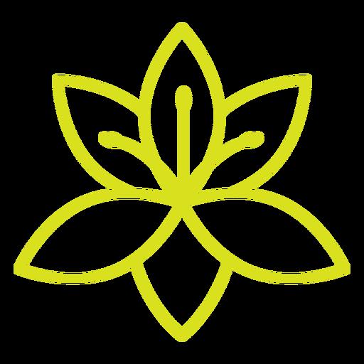 Yellow flower stroke