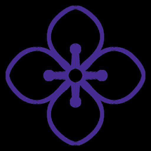 Single hidrangea flower filled stroke
