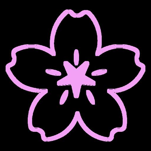 Simple wild flower design filled stroke