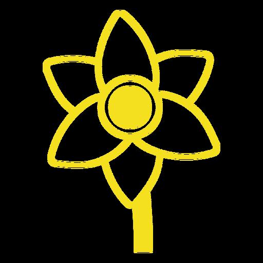 Yellow flower filled stroke