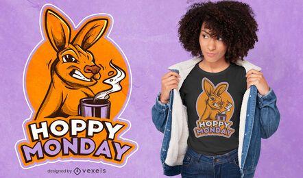 Diseño de camiseta Angry Kangaroo Monday
