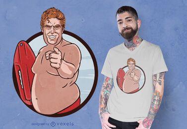 Lifeguard man t-shirt design