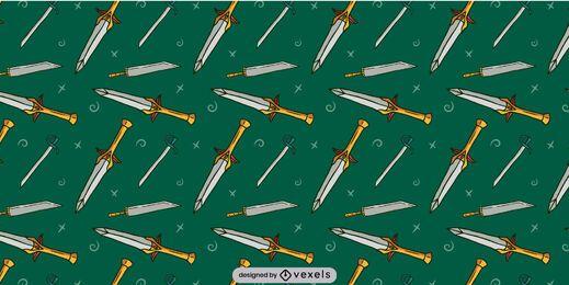 Diseño de patrón de hoja de armas de espada
