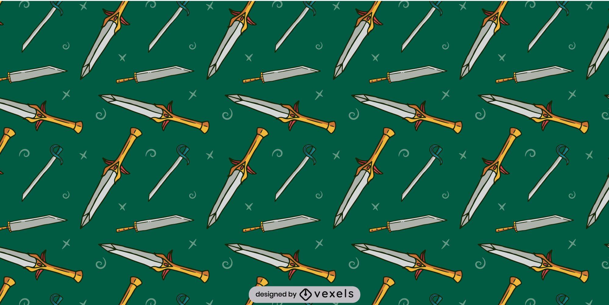 Design de padrão de lâmina de armas de espada