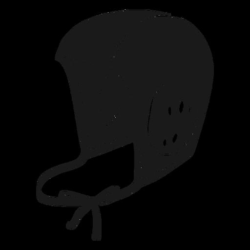Waterpolo helmet cut out