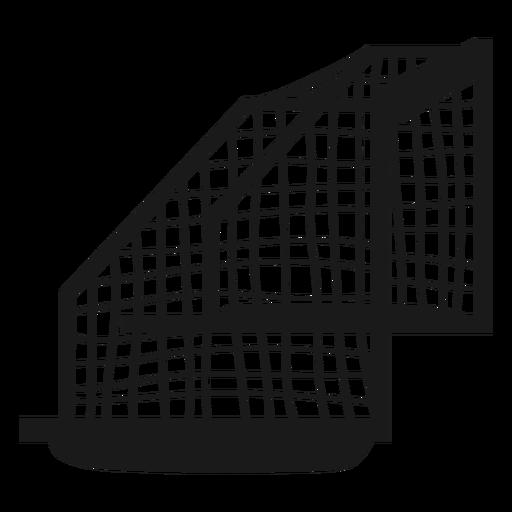 Waterpolo goal silhouette side