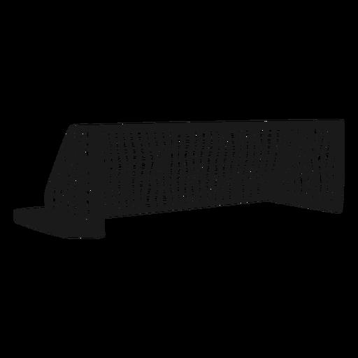 Soccer goal net silhouette