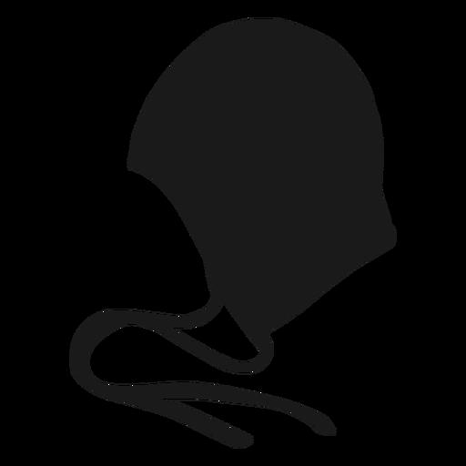 Waterpolo silhouette helmet side
