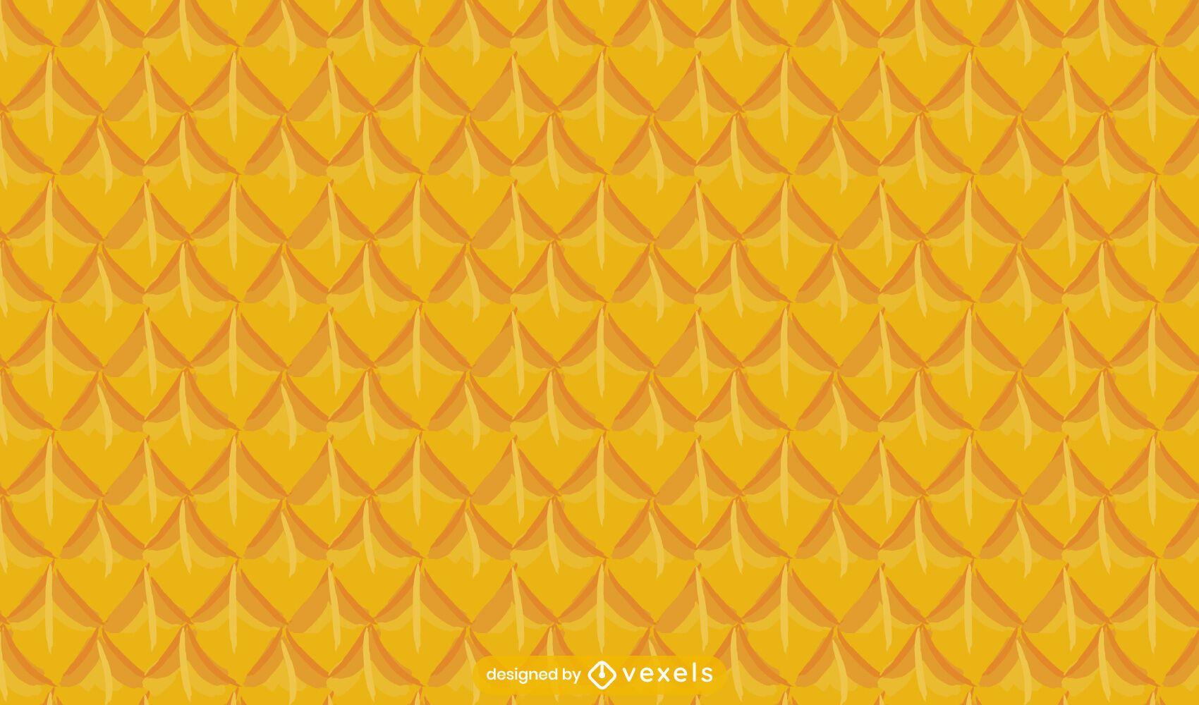 Diseño de patrón de comida de fruta de piña