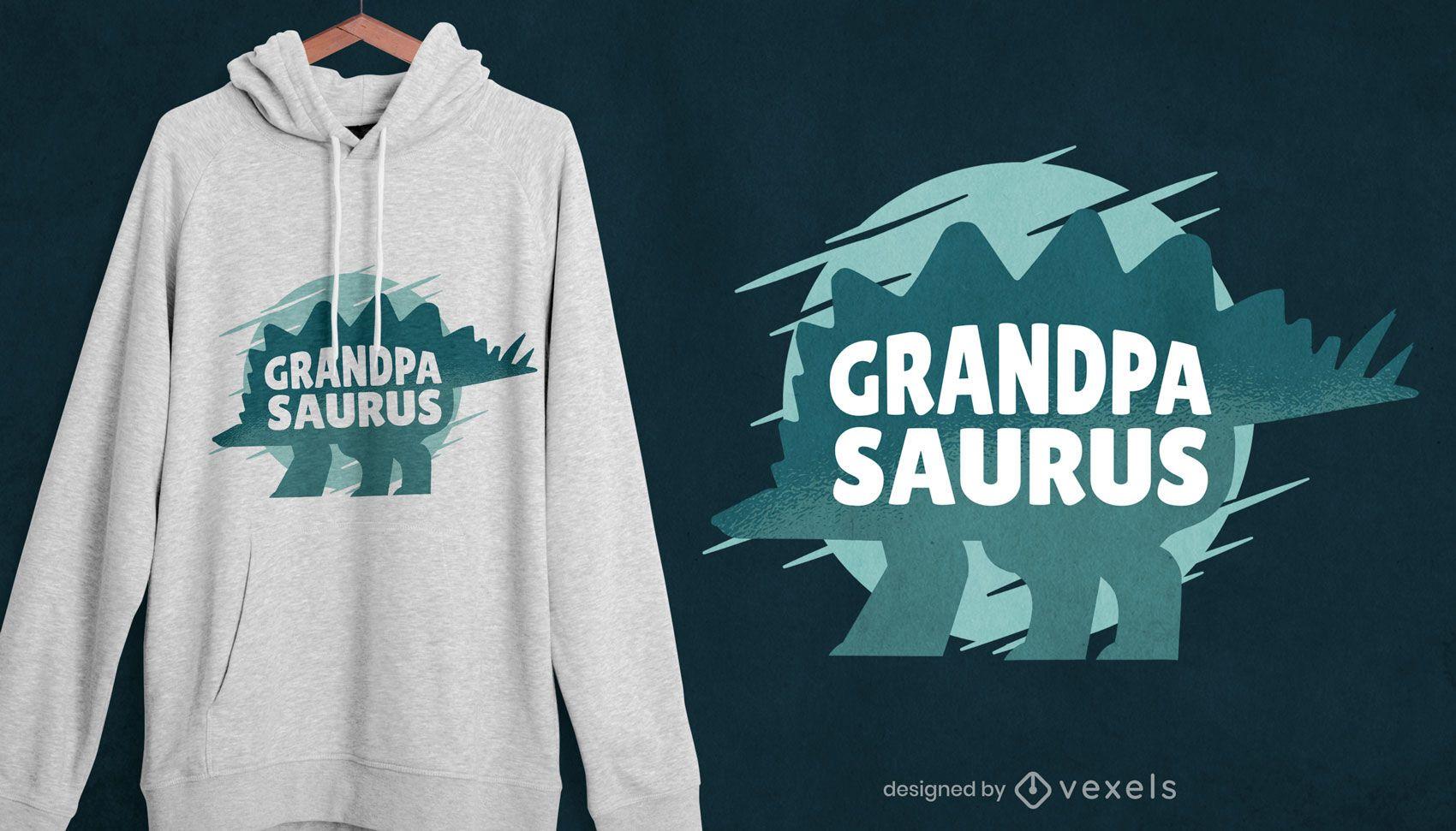 Diseño de camiseta abuelo saurio