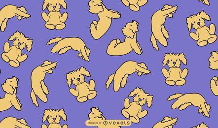 Yoga dog poses cute pattern design