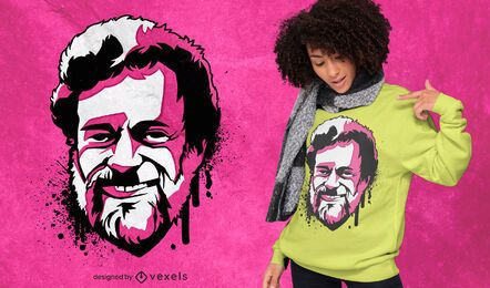 Terrence Kemp pink portrait t-shirt design