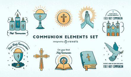 Religion christianity communion set