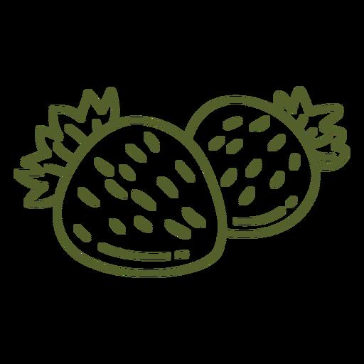 Pair of stroke strawberries