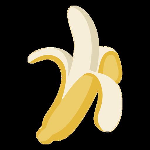 Peeled banana semi flat