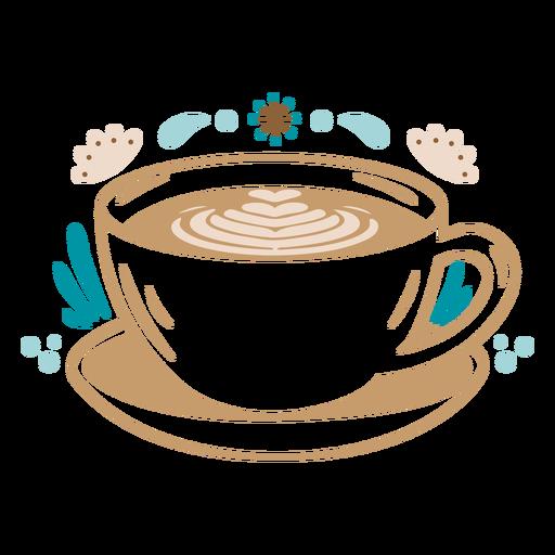 Latte coffee filled stroke