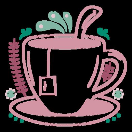 Sweet tea cup warm drink