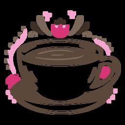 Black coffee cup drink