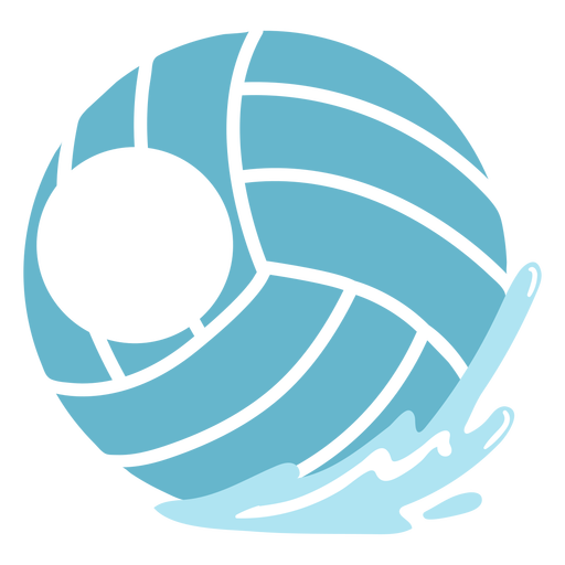 Waterpolo ball editable badge cut out