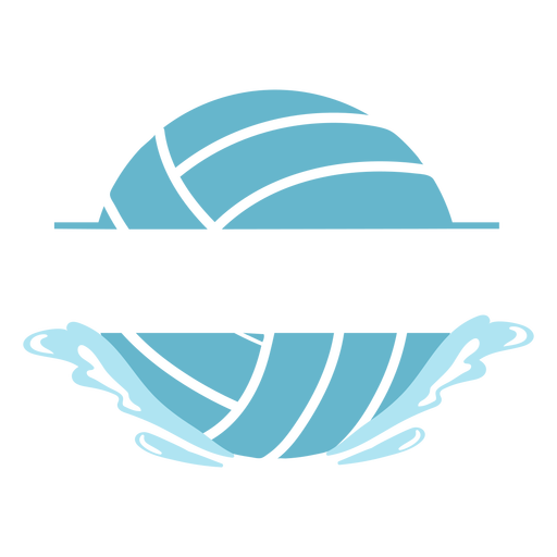 Waterpolo ball editable text badge cut out