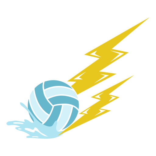 Waterpolo ball with lightnings cut out