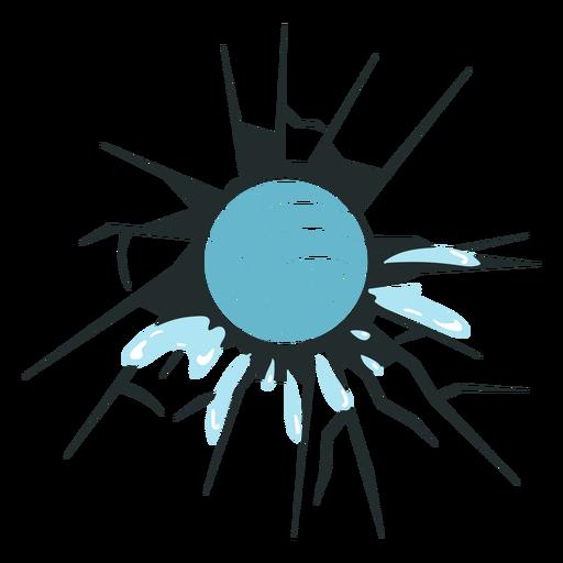 Waterpolo ball in broken wall