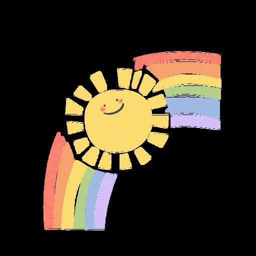Sun and rainbow cute