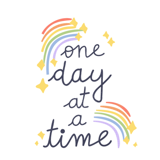 One day at a time badge