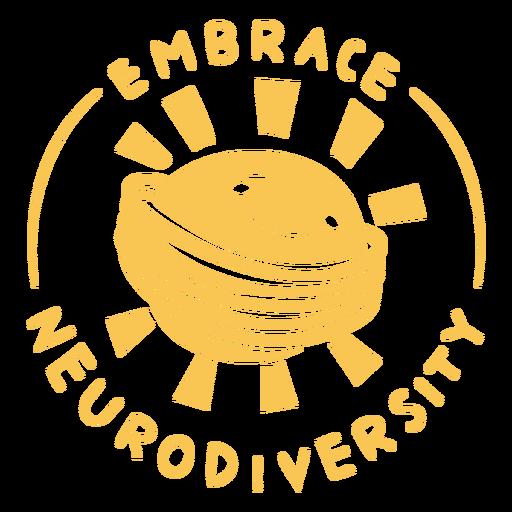 Embrace neurodiversity cut out