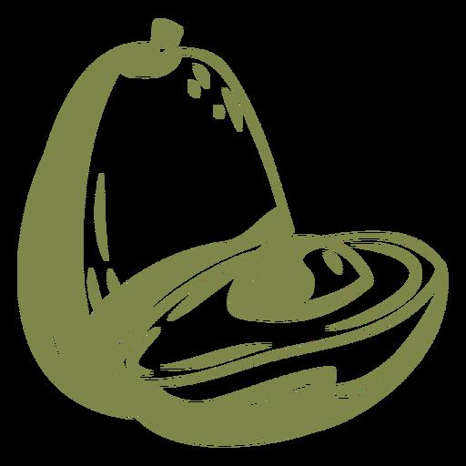 Open avocado high contrast