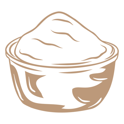 Pot of flour powder high contrast