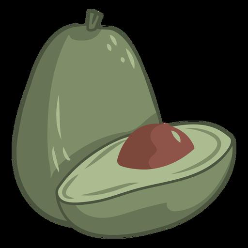 Green avocado fruit color stroke