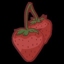 Strawberries in a stem color stroke