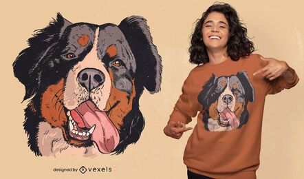 Bernese mountain dog illustration t-shirt design