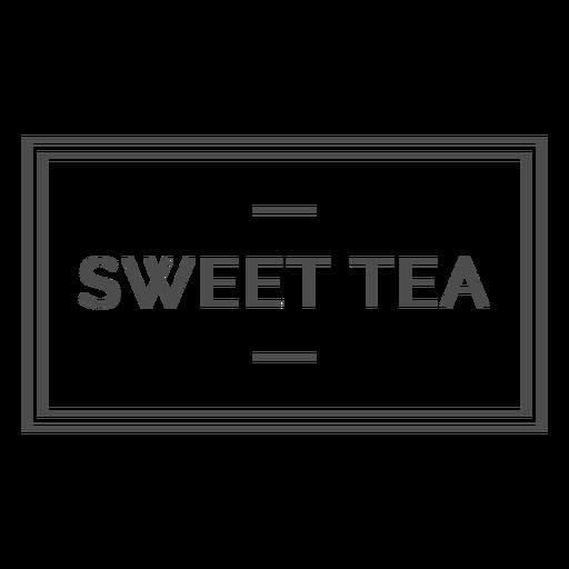 Sweet tea label stroke