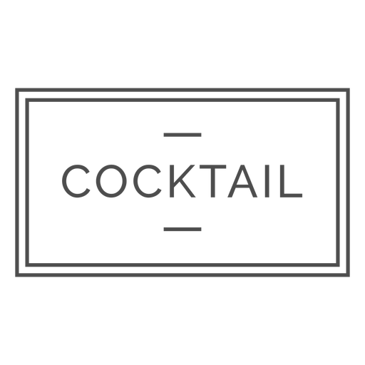 Cocktail stroke text label