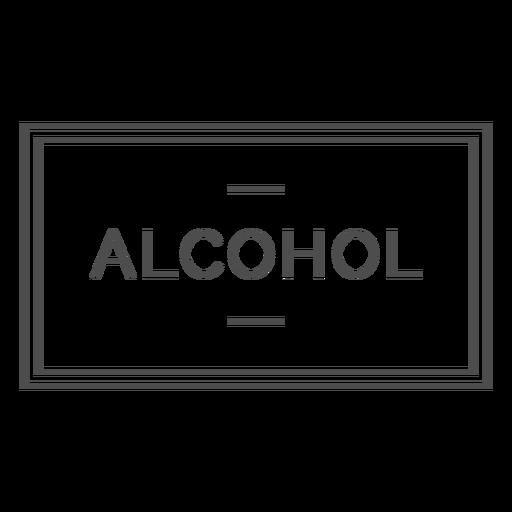 Alcohol label stroke