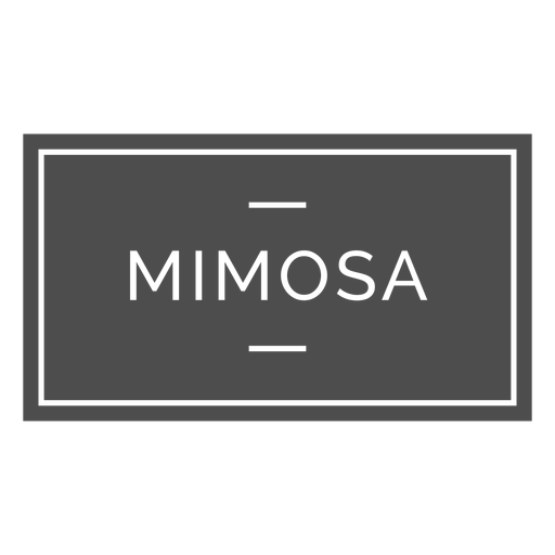 Mimosa alcohol drink label
