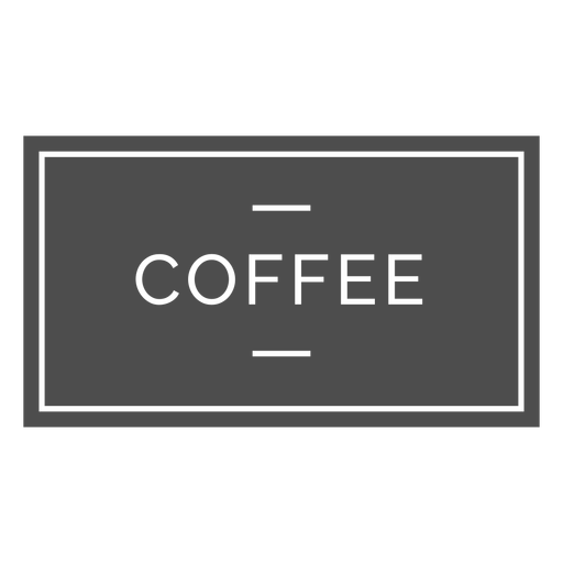 Coffee label cut out