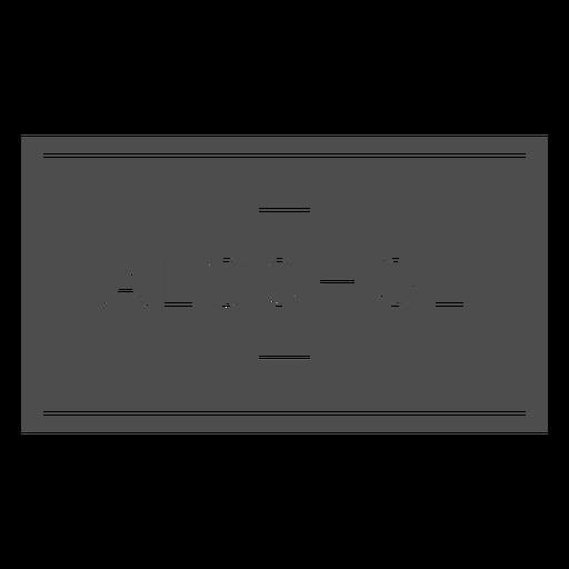 Alcohol label cut out