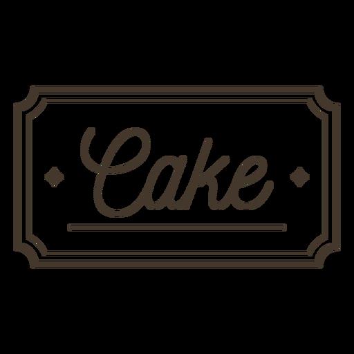 Cake label stroke