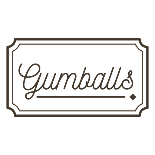 Gumballs label stroke